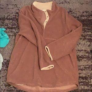 Dark blush Sherpa pullover